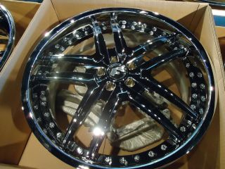 22x9 22x10 5 Forgiato Vizzo Chrome Wheels Mercedes CL and s 63 65 Big