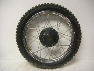 96 Yamaha PW 80 Zinger Front Wheel Rim w Tire 14 x 1 40 T8