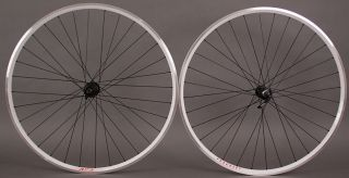 Shimano 105 Black Velocity A23 White Road Bike Wheels Wheelset 32 Hole
