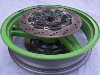 94 95 96 97 Kawasaki Ninja ZX6 Front Wheel Rim Rotors Discs Rotor