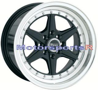 15 15x8 XXR 501 Black Rims Deep Dish Stance 91 92 97 98 99 02 Honda
