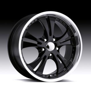 17 inch Vision Shockwave Black Wheels Rims 5x115 42