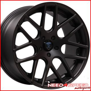 Ford Mustang GT Rohana RC26 Concave Black Staggered Wheels Rims