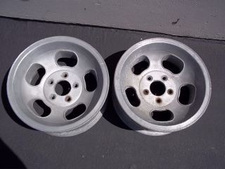 Original Ford Lug Pattern Mags Magnesium Wheel Pair Dragster Gasser