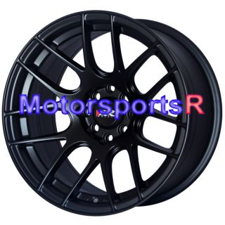 530 Flat Black Wheels Rims Concave 4x114 3 Stance 97 Honda Accord EX