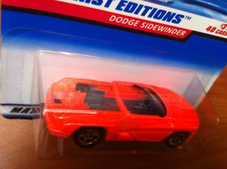 X93 Hot Wheels 1998 First Editions Dodge Sidwinder 3 40 Error Missing