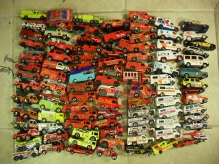 AMBULANCE RESCUE Vehicles 106pc Hot Wheels Matchbox Maisto others 1 64