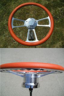 Chevy 69 94 Jeep 76 95 Orange Billet Steering Wheel Truck Camaro Nova
