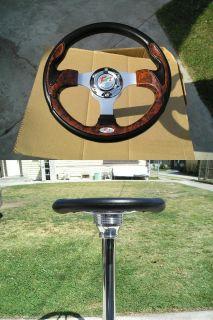 EZ Go Golf Cart 12 5 Wood Look Steering Wheel w Cover