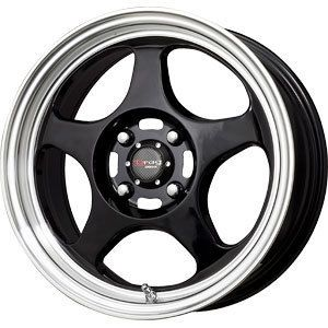 New 15x6 5 4x100 Drag Dr 23 Black Wheels Rims