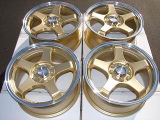 Gold Wheels Legend Accord Corolla Civic Cabrio CRX 4 Lug Rims
