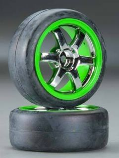 Volk Racing TE27 Green Chrome Wheels Tires 2 1 16 Ford Fiesta