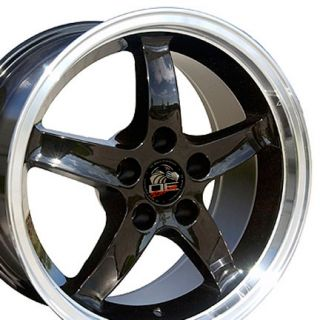 17 Rim Fits Mustang® Cobra Wheel Black 17x9