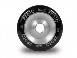Proto Slider Wheels Full Core 110mm Pro Scooter Wheel Black on Silver