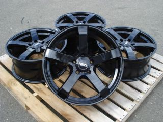 Volkswagen Audi Mercedes Benz 5x112 35 Offset Black Wheels Rims