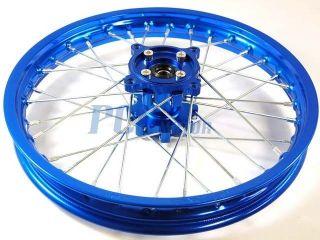 14 Blue Front Rim Wheel CNC Hub Honda XR50 CRF50 SDG SSR 107 125 Pit