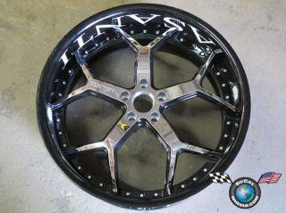 One asanti AF164 22x10 5x112 0mm Black Chrome 3 Piece Wheel Rim