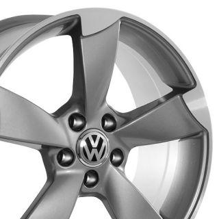 EOS Jetta Passat VW Volkswagen Black Golf Rabbit CC Wheels Rims