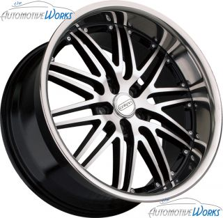 Dakar Sigma 5x112 35mm Black Machined Wheels Rims inch 19