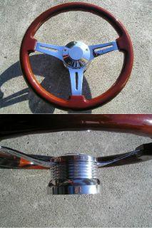 Mahogany Wood Steering Wheel 14 Adapter 4 Chevy Ididit GM Jeep Dodge