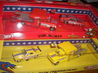 Hot Wheels Snake Mongoose 2 Car Set Exclusive Don Prudhomme Tom McEwen