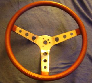 14 5 Red Metalflake Rim Steering Wheel Moon Hot Rat Rod Used Patina