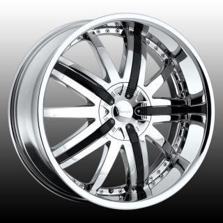 22 VER210 Wheels Rims Tires 5x115 Charger Challenger Magnum 300C