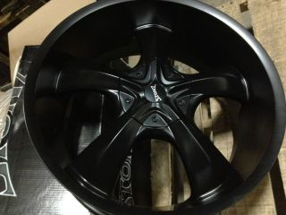 22 INCH STONZ WHEELS RIMS BLACK 5x115 5x4 5 DODGE CHARGER CHALLENGER