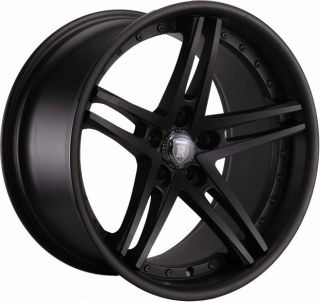 19 Rohana RC5 Staggered Wheels 5x120 Matte Black Rim Fits BMW 550i M5