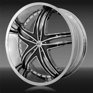 26x10 Gianna Envy Chrome Wheel Rim 6x132 15 Arcadia Traverse