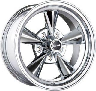 15 inch Ridler 675 Chrome Wheels Rims 5x120 65 Camaro Chevelle GTO