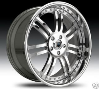 AF123 AF 123 Chrome Multi 2 Piece Rims Wheels Tires Package