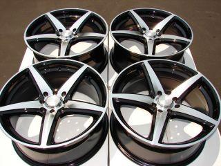 4x100 Black Wheels Ford Focus Miata Integra Cougar Mystique 4 Lug Rims