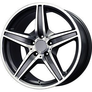 New 18x9 5 5x112 Replica MG5 Gun Metal Wheels Rims
