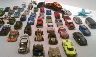 Die Cast Hot Wheels Matchbox etc Cars Trucks Lot 50