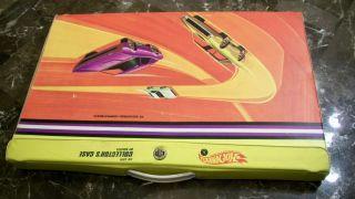 1968 Mattel Hot Wheels 48 Cars Redline Collectors Case Sticker plastic