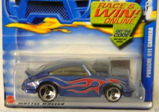 2002 Hot Wheels Blue Card Collectors Series 130 Porsche 911 Carrera