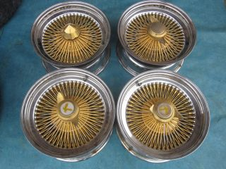 15 Dayton Wire Rims Wheels Chrome Gold Bolt Pattern 5x5 5x115 5x4 5