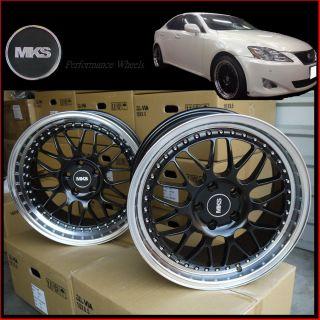 18 5x114 3 Staggered Deep Lip Wheels Lexus IS250 GS300 gs350 SC430