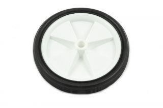 White Plastic Bicycle Stabiliser Any Use Wheels 130mm Diameter