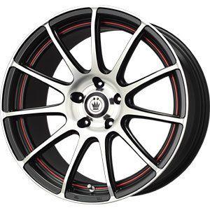 New 17x7 5x110 5x115 Konig Zero in Red Wheels Rims