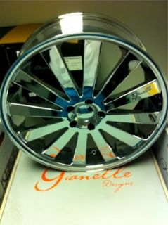 22 Chrome Gianelle Santorini Wheels 5x120 Rims BMW 7 Series