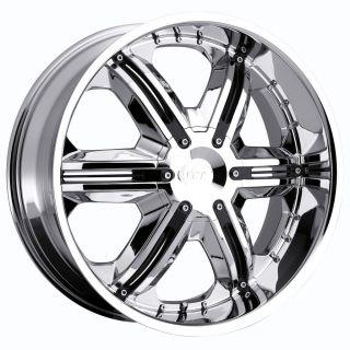 22 inch VCT Corleone Chrome Wheel Rim 6x135 F150 Expedition Navigator