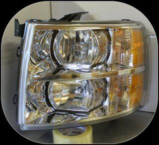 07 08 09 10 11 12 Silverado Headlight LH Lamp Genuine OEM Chevy Part