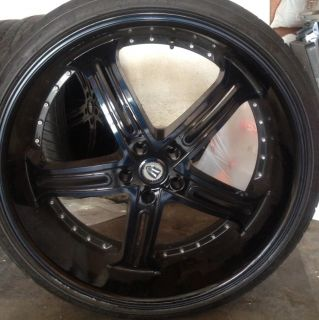 24 inch Versante Wheels Rims with Tires