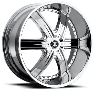 22 inch 2CRAVE No4 Chrome Wheels Rims 5x120 BMW 5 Series 6 Series 7