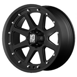 17 inch XD Addict Black Wheels Rims 5x5 5 5x139 7 12mm