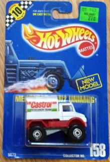 Hot Wheels Blue Card 1990 Mercedes Benz Unimog 158