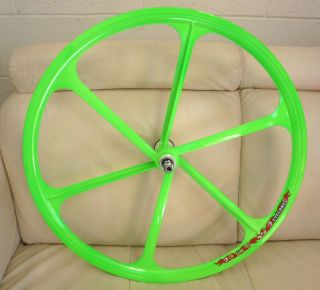 Fixed Gear Teny Rims Mag Wheelset 700c Rims Front Rear Fixie Bike Neon