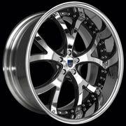 22 asanti 143 Chrome Black BMW 645 745 760 Wheels Rims